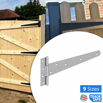 £9.98 • Buy SINGLE Galvanised Or Zinc Strong Tee Hinges Gate Shed 4/6/8/10/12/14/16/18/24