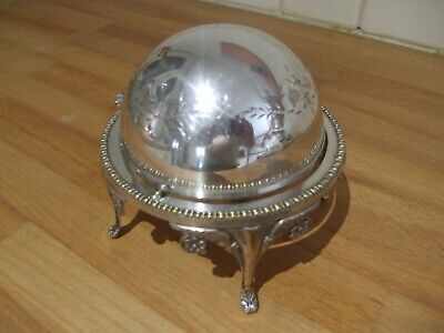 Silver Plated Revolving Butter/Caviar Dish • 24.95£