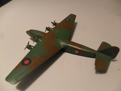 Dinky Toys Aeroplane #68a Ensign Airliner Light Camouflage Aircraft 40 - 41 Rare • 165£
