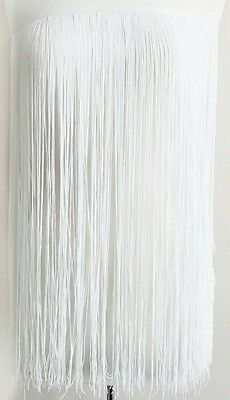 £17.30 • Buy Chainette Fringe Trim 24 Inches -white-sold By Yards