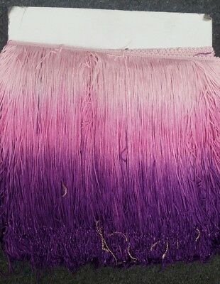 £12.98 • Buy Ombre Chainette Fringe 10 Inches ,sold By Yard