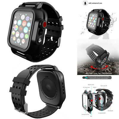 AU23.99 • Buy Apple Watch 5 4 3 Band With Case 38/42/44mm Waterproof Screen Protector Iwatch