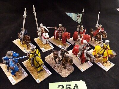 Medieval Mounted Knights X 10 Metal Horses And Figures, GW Bretonnia Compatible • 30£