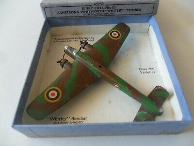 £175 • Buy Dinky Toys Aeroplane #62t Whitley Bomber Aircraft With Box, Excellent Example