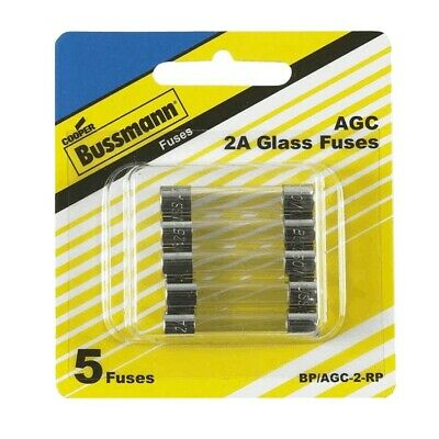 $ CDN11.96 • Buy 5 Pack 1-1/4  2 Amp Automotive Glass Fuses