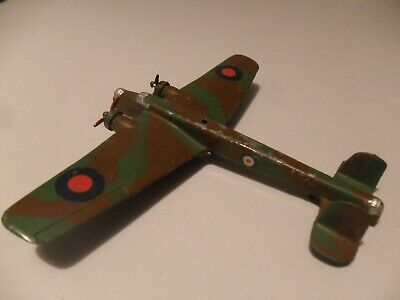 Dinky Toys Aeroplane #62t Whitley Bomber 68 Aircraft Set LIGHT Version Very Good • 155£