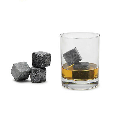 £4.30 • Buy 9 PCS Reusable Granite Whiskey Ice Stones Cooler Cubes Scotch Whisky Rocks Pouch