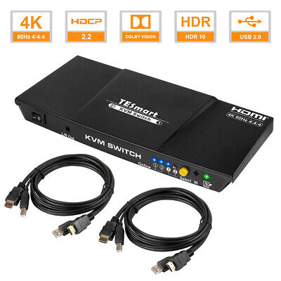 AU119.99 • Buy TESmart 2x1 KVM Switch HDMI Audio Switcher4K@60Hz 4:4:4