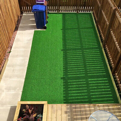 £19.95 • Buy 1 - 2m Wide 4mm Depth Artificial Grass Quality Garden Green Lawn Fake Astro Turf