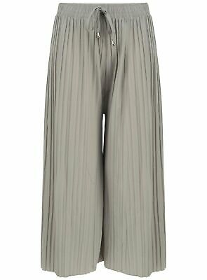 £5.95 • Buy Ladies Culottes Trousers Wide Leg Harem Pleated Crinkle Holiday Summer Beach 3/4