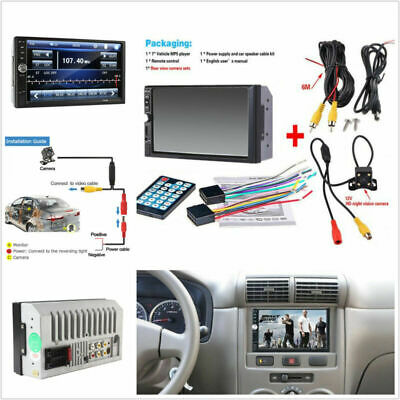 £55.89 • Buy 7'' HD Video Car Bluetooth Stereo MP5 MP3 Player + Night  Rear View Camera