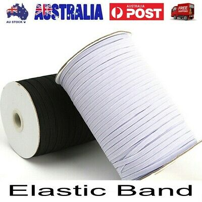 AU22.14 • Buy 100M 3~6mm Elastic Bands For Face Mask Width Elastic Cord For Craft Elastic Rope