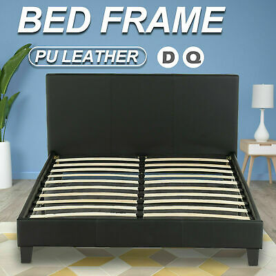 AU132.90 • Buy Bed Frame Double Queen Size PU Leather Platform Wooden Mattress Base Bedroom