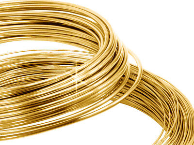 £9.49 • Buy 9ct Yellow Gold Soft Round Wire 0.3mm 0.4mm 0.5mm Diameter Jewellery Making Wrap