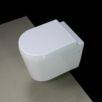 Toilet WC Wall Hung Mounted Cloakroom Short Project Compact Heavy Seat M315 • 119.99£