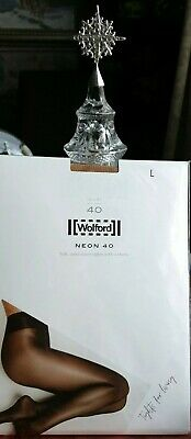 Brand New Wolford Gobi Neon 40 Glossy Tights Large  • 28£