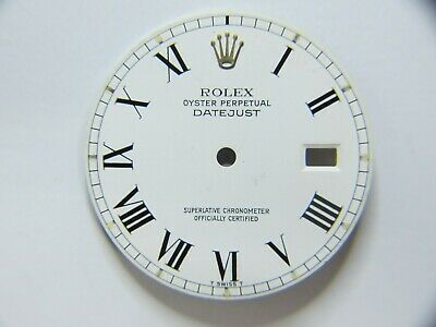 $ CDN271.54 • Buy ROLEX OYSTER PERPETUAL VINTAGE DATEJUST WHITE PORCELAIN DIAL WITH ROMAN N. 28mm