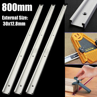 T-track T-slot Miter Jig Fixture Slot For Router Table Woodworking 1/2/3x 800mm  • 18.69£
