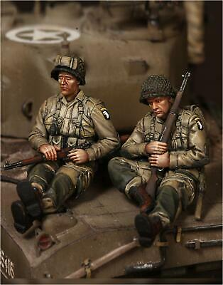 1/35 Scale Resin Figure Kit WW2 US Airbourne Tank Riders #1 • 24.99£