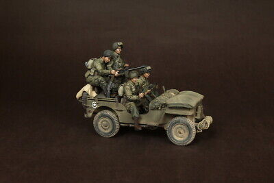 1/35 Scale Resin Figure Kit WW2 US Airborne Paras With Officer For Jeep Normandy • 54.99£