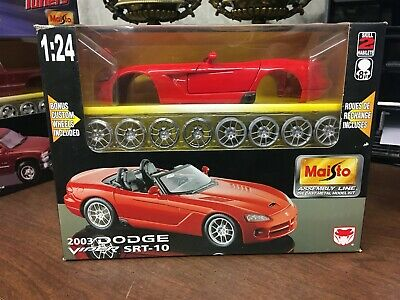 $27.96 • Buy Maisto Assembly Line 2003 Dodge Viper SRT-10 Die Cast Model Kit 1:24 Mint In Box