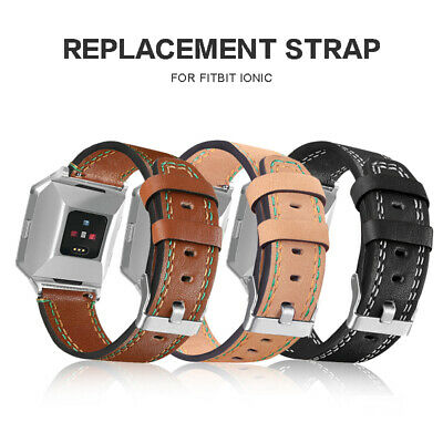 AU15.38 • Buy Leather Sport Replacement Wristband Band Strap For Fitbit Ionic Smart Watch New
