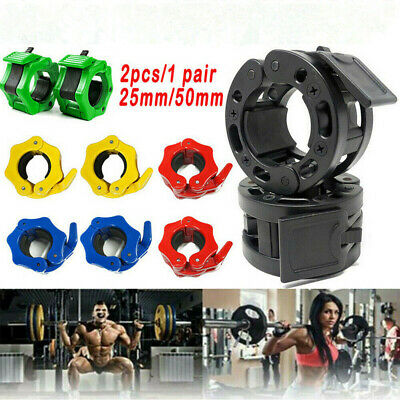 $ CDN11.88 • Buy 2x 25MM/50MM Collars Barbell Dumbell Clips Clamps Weight Bar Locks Lifting Tools