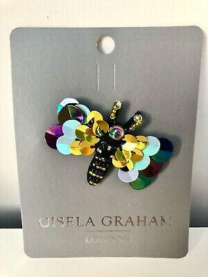 £7.50 • Buy Stunning Bead & Sequin Dragonfly Brooch By Gisela Graham