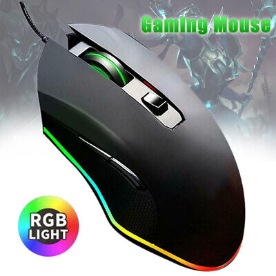 AU11.67 • Buy USB Wired 3200DPI Mouse Gaming 8 Button 16.8M Color Backlight RGB  Mouse