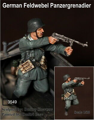 1/35 Scale Resin Figure Kit WW2 German Feldwebel Panzergrenadier. • 14.99£