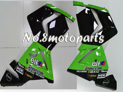 $323.75 • Buy Fit For ZX-10R 04-05 Green Black ABS Plastic Injection Left Right Side Fairings