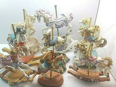 $120 • Buy Carousel Horse Lot ~9ct (2ct W/ Music Box ~Each Flawless ~Please See Photos