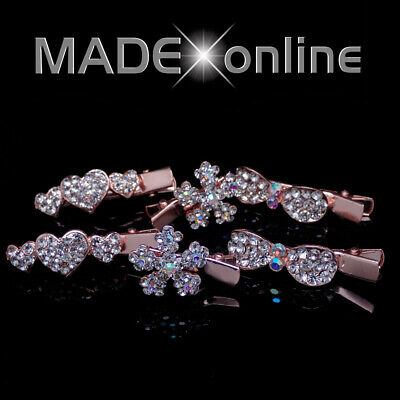 £4.99 • Buy Small Rose Gold Crocodile Hair Clips Sparkly Metal Bling