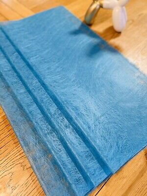 4 Sheets Reuseable Shimmer Blue Wrapping Paper For Flower Bouquet, Gift Box  • 2.99£