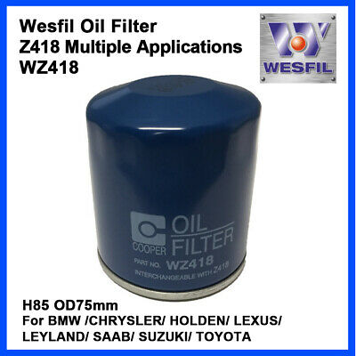 AU7.95 • Buy WESFIL Oil Filter WZ418 Multiple Applications Interchangeable With Z418