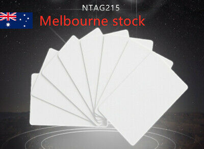 AU7.99 • Buy 10xNTAG215 NFC Card Tag For TagMo Forum Switch Type2 Tags Amiibo Melbourne Stock