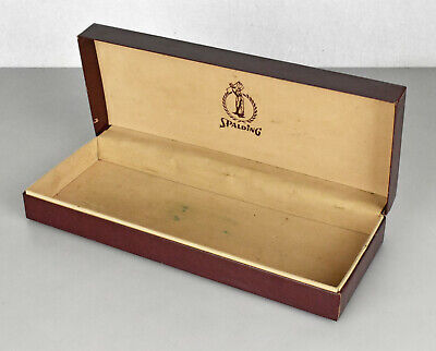 Vintage Spalding Golf Ball Gift Display Box Maroon W/ Gold Graphics Felt Lined • 14.26£