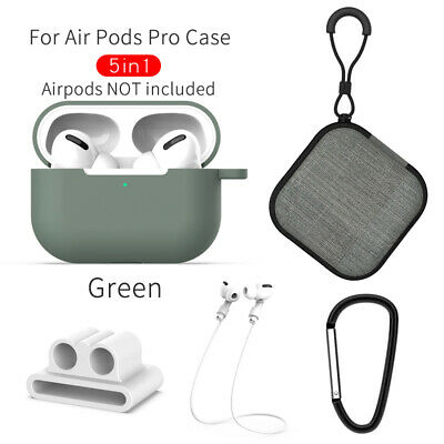 $ CDN9.28 • Buy Strap Holder & Silicone Case Cover For Apple AirPods Pro Accessories Kits 5 In1