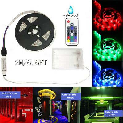 $11.49 • Buy LED Strip Battery Powered Waterproof RGB 60 LEDs 5V With RF Controller Light 2M
