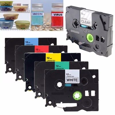COMPATIBLE LABEL TAPE FOR BROTHER 9mm 12mm FOR P-TOUCH PT-H110 PT-H200 PT-H300 • 3.79£