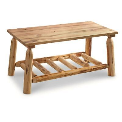 $128.31 • Buy Log Coffee Table Wood Rustic Cabin Modern Natural Pine Contemporary Furniture