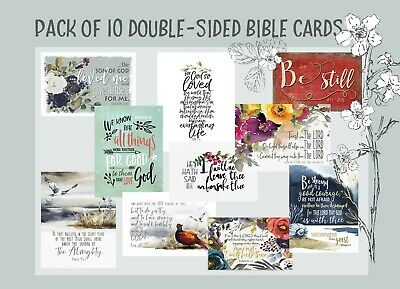 Bible Verse Cards PACK OF 10 Keepsake PSALM 91 Lockdown Comfort Kjv Christian • 5.80£