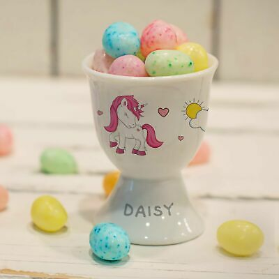 £11.99 • Buy Personalised Unicorn Footed Egg Cup