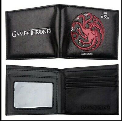 $12.99 • Buy Game Of Thrones Targaryen Dragons Fire & Blood Wallet Coins Cards Notes