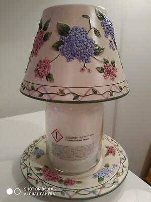 Yankee Candle 'hydrandea Lattice' Large Plate & Shade Set - Perfect Condition  • 25£