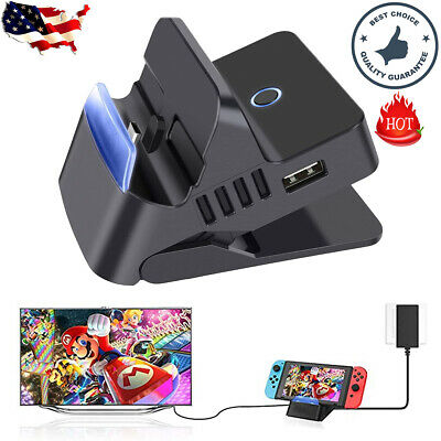 $28.95 • Buy Portable HDMI TV Docking Station Charging Dock Replacement For Nintendo Switch