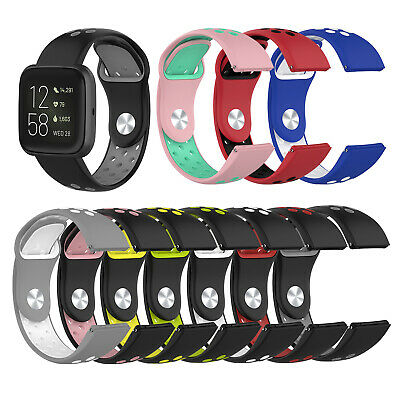 $ CDN9.99 • Buy Dual Color Silicone Strap For Fitbit Versa 2 /Versa Lite Soft Rubber Band