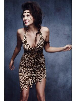 £15 • Buy Ladies Sexy Fever Cavewoman Costume Leopard Print Cave Girl Fancy Dress Outfit