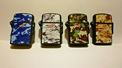 £3.35 • Buy Lighter Prof Camouflage Windproof Blue Turbo Jet Flame Refillable  4   Styles