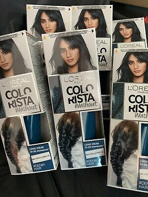 L'Oreal - Colorista Washout Semi-Permanent Hair Dye - Denim Blue X6 • 13.99£
